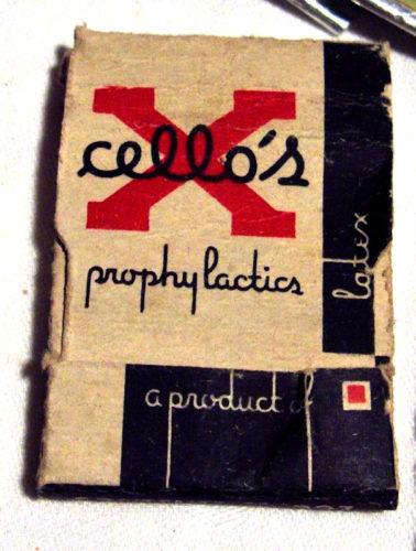 Prophylactiques préservatifs de la marque cello's pour l'Armée américaine pendant la seconde guerre mondiale