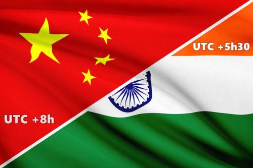 Chine et Inde fuseau horaire unique raisons et conséquences