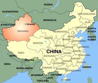 Chine probleme Xinjiang fuseau horaire unique
