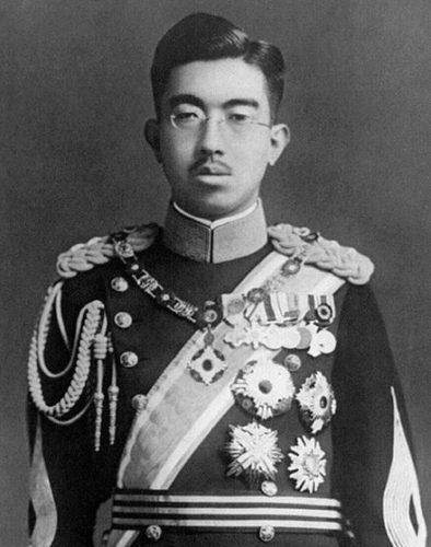 Empereur Hirohito portrait photographie noir et blanc