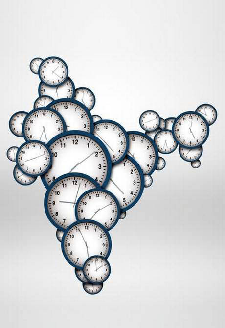 Inde horloges fuseaux horaires problèmes sociaux et environnementaux