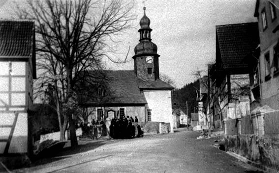 Presswitz avant avis d'évacuation pour inondation à cause du barrage de Hohenwarte en 1938