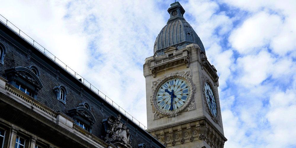 L'horloge de la gare de Lyon à Paris