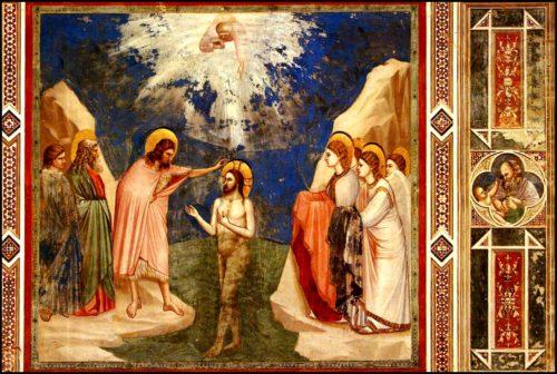 illustration baptême du Christ corps immergé