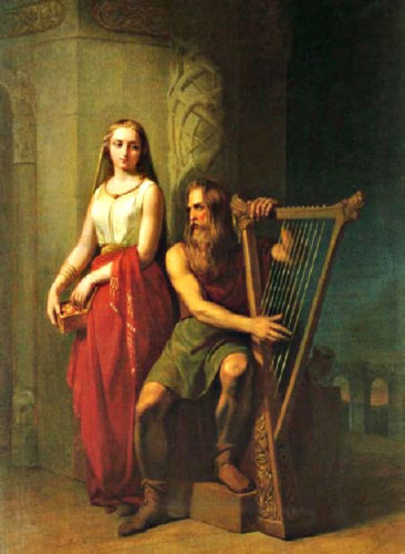 Idunn and Bragi by Nils Blommer, 1846