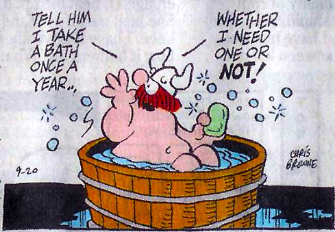 cliché un seul bain par an vikings
