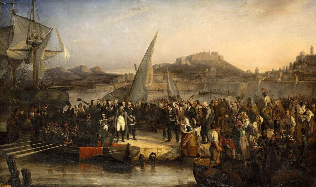 Napoléon Bonaparte quittant l'île d'Elbe pour la France par Joseph Beaume