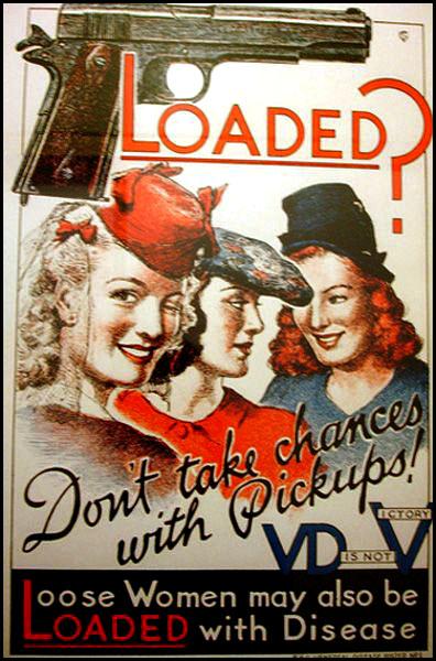 affiche de propagande anti MST cause prostitution pendant seconde guerre mondiale