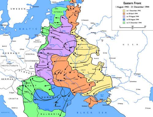 front de l'Est seconde guerre mondiale entre 1er août 1943 et 31 décembre 1944 map carte