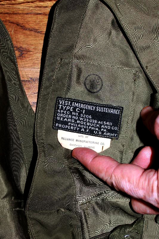 veste de survie Type C-1 par l'Air Force de l'US army pendant seconde guerre mondiale