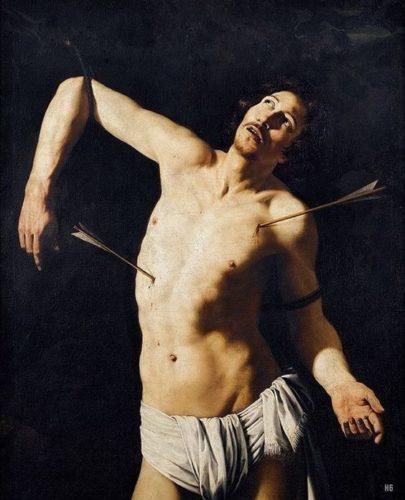 Saint Sebastien par le Caravage