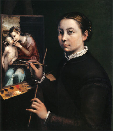 Sofonisba_Anguissola_autoportrait d'une femme artiste