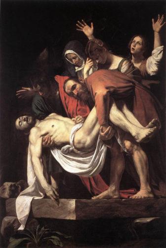 Déposition de croix par le Caravage
