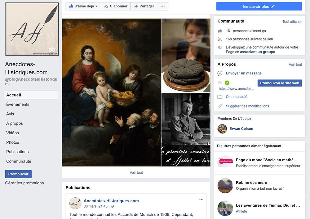 Page facebook anecdotes historiques avril 2018