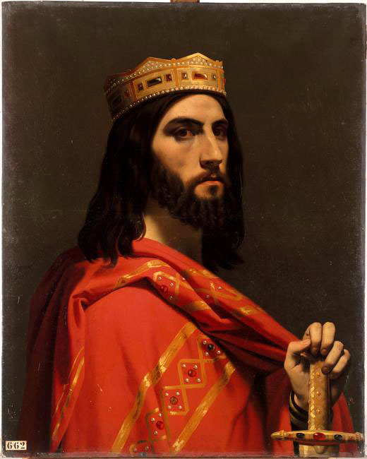 Dagobert Ier tableau d'un des rois mérovingiens les plus connus